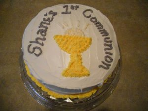 Cake for Shane's 1st Communion
